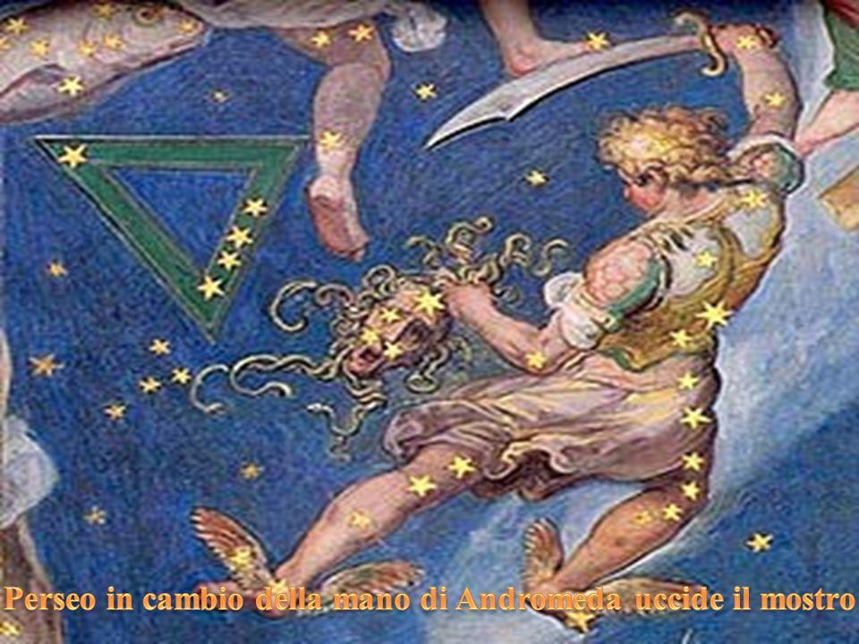 Perseo in cambio della mano di Andromeda uccide il mostro