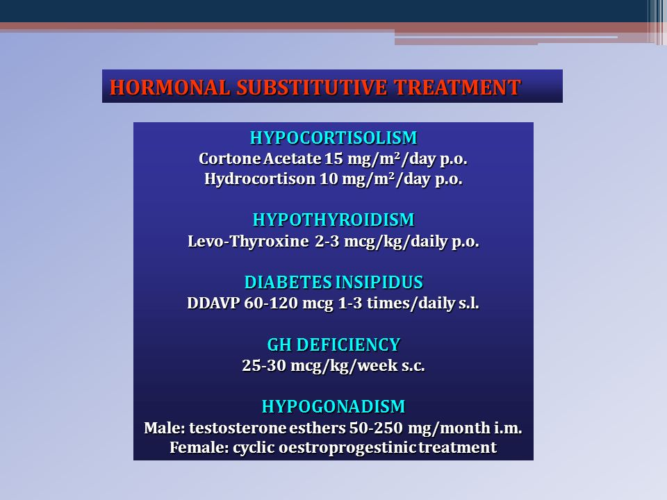 HORMONAL SUBSTITUTIVE TREATMENT