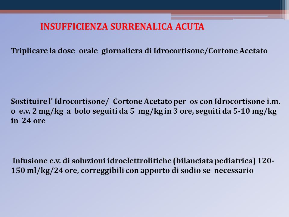 INSUFFICIENZA SURRENALICA ACUTA