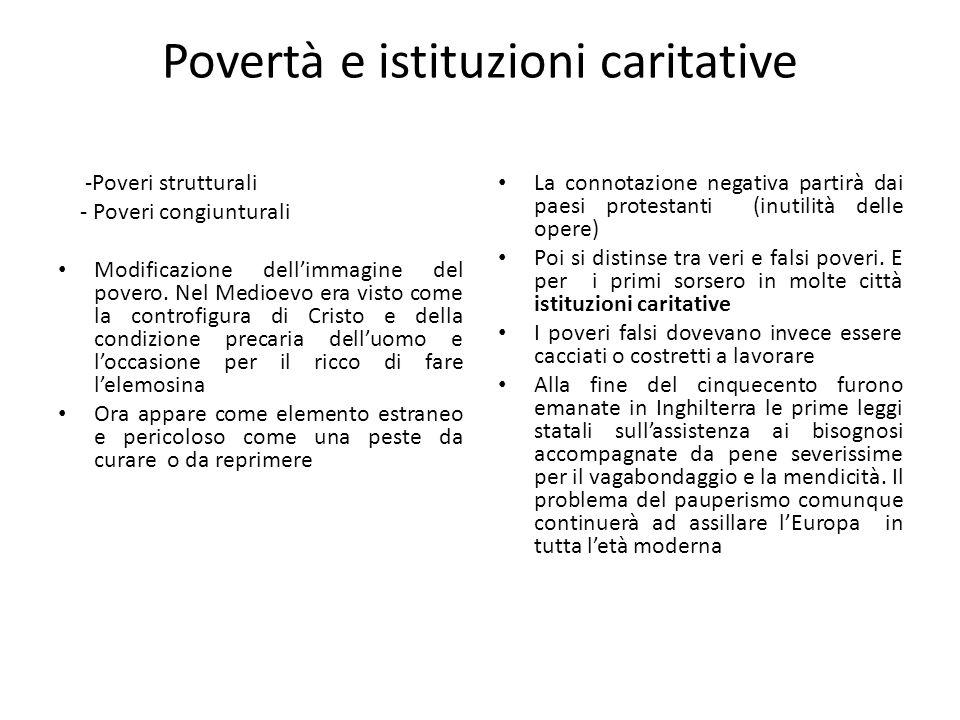 Povertà e istituzioni caritative