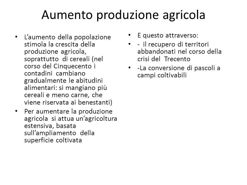 Aumento produzione agricola
