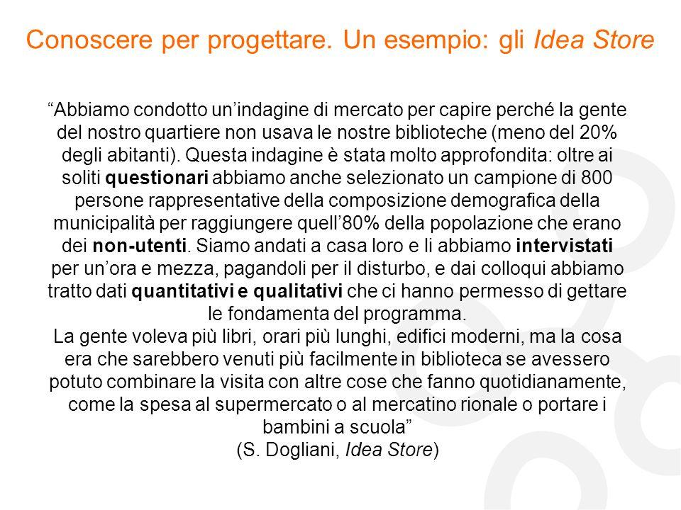 Conoscere per progettare. Un esempio: gli Idea Store