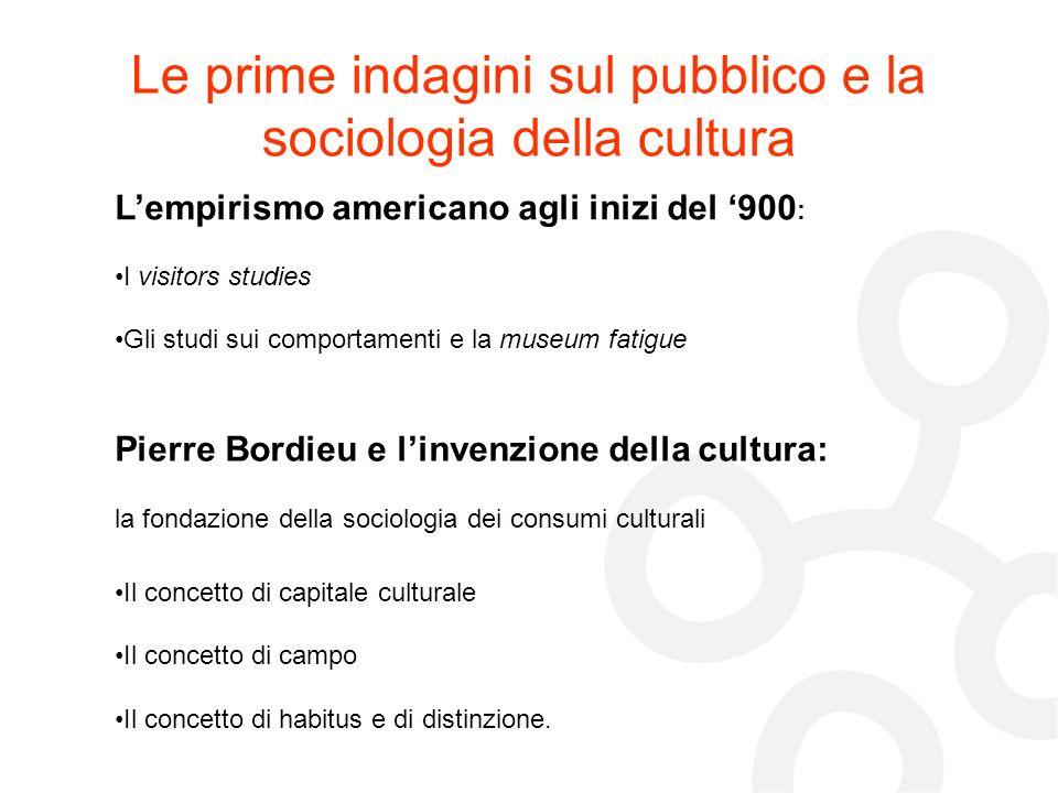 Le prime indagini sul pubblico e la sociologia della cultura