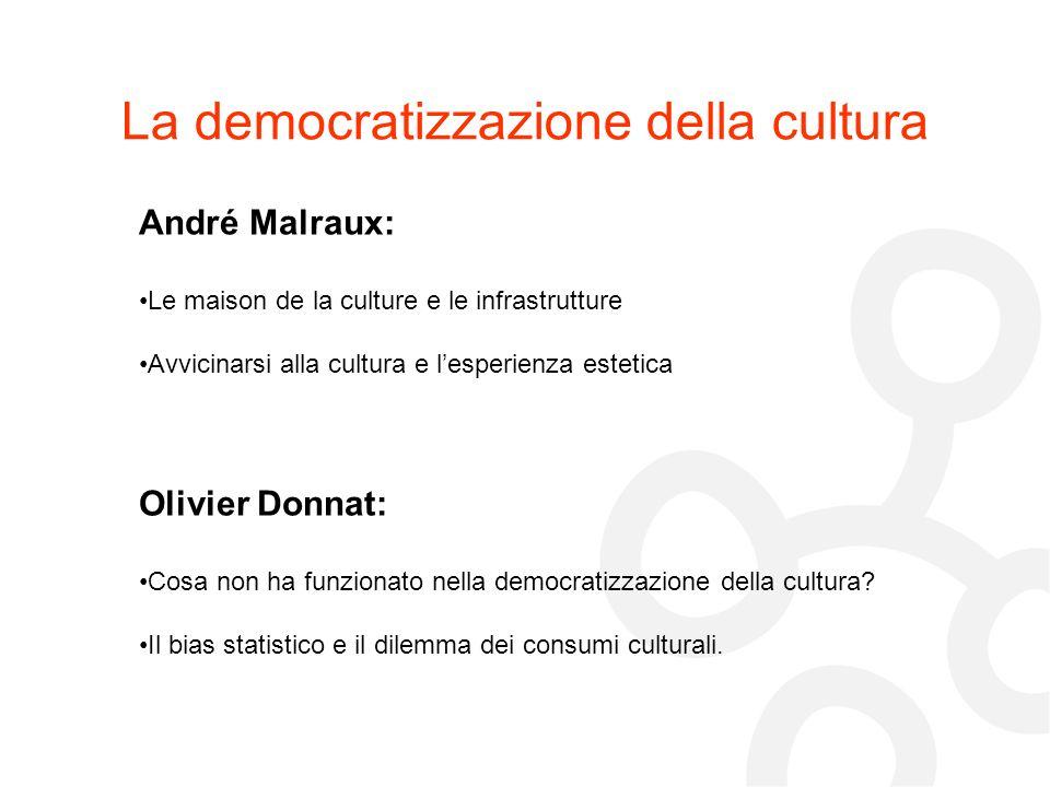 La democratizzazione della cultura
