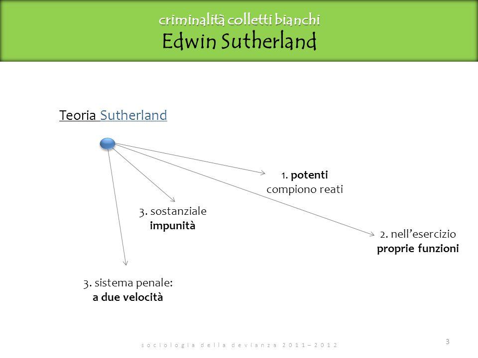 criminalità colletti bianchi Edwin Sutherland