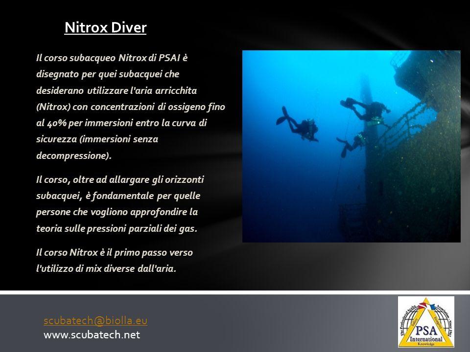Nitrox Diver scubatech@biolla.eu www.scubatech.net