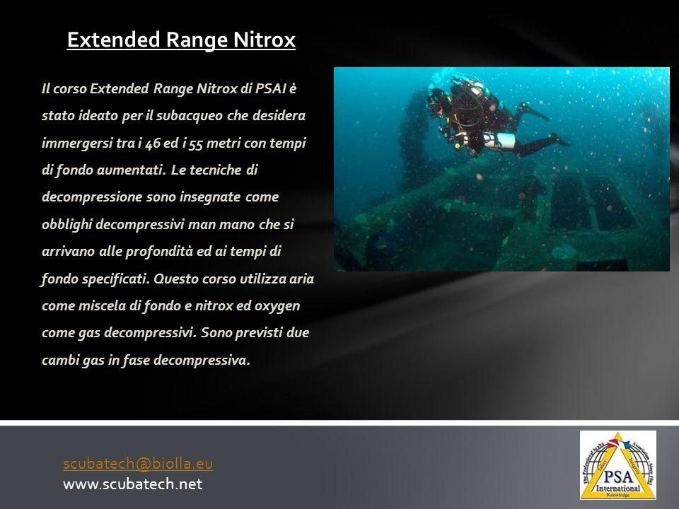 Extended Range Nitrox scubatech@biolla.eu www.scubatech.net