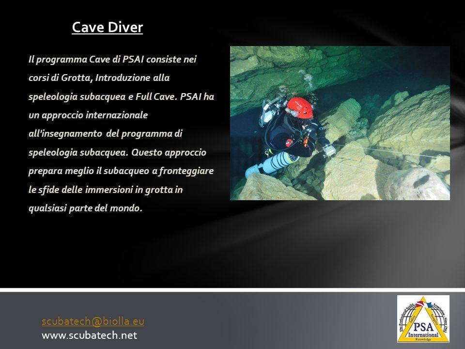Cave Diver scubatech@biolla.eu www.scubatech.net