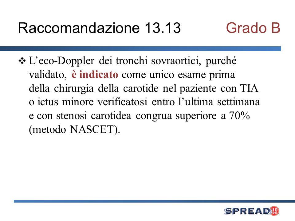 Raccomandazione 13.13 Grado B
