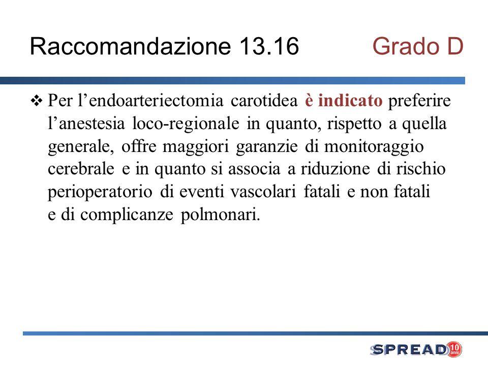 Raccomandazione 13.16 Grado D