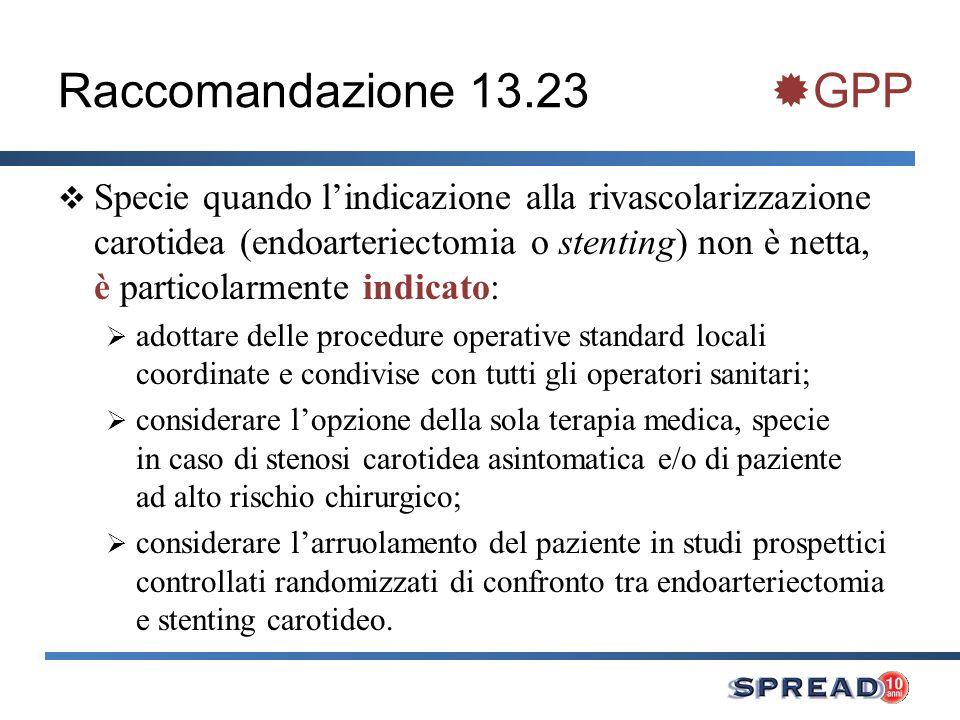 Raccomandazione 13.23 GPP