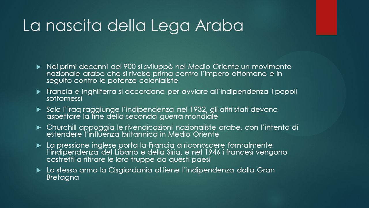 La nascita della Lega Araba