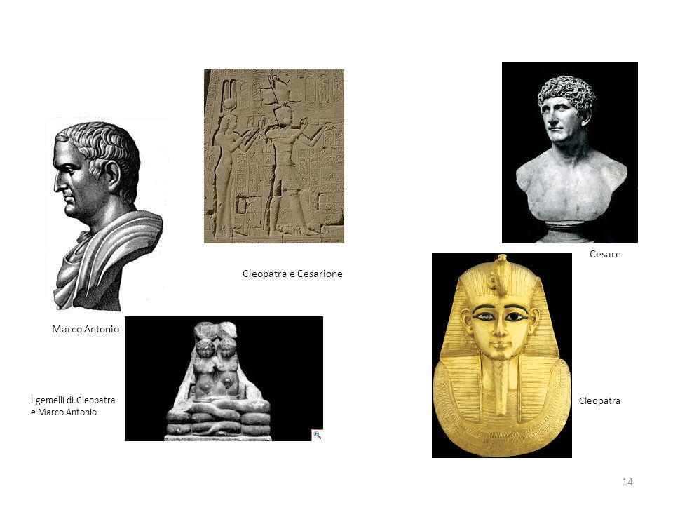 Cesare Cleopatra e Cesarione Marco Antonio Cleopatra
