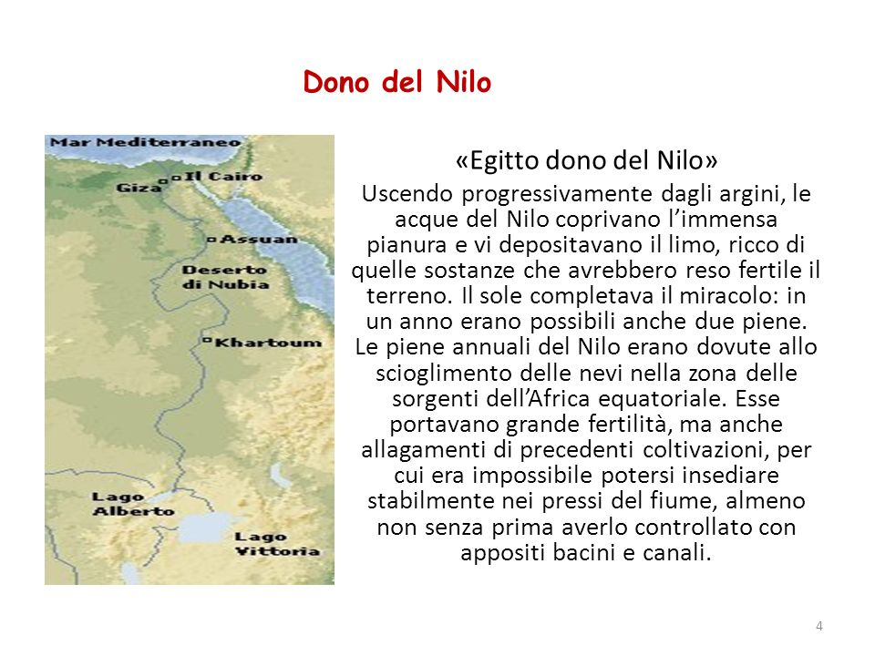 Dono del Nilo «Egitto dono del Nilo»