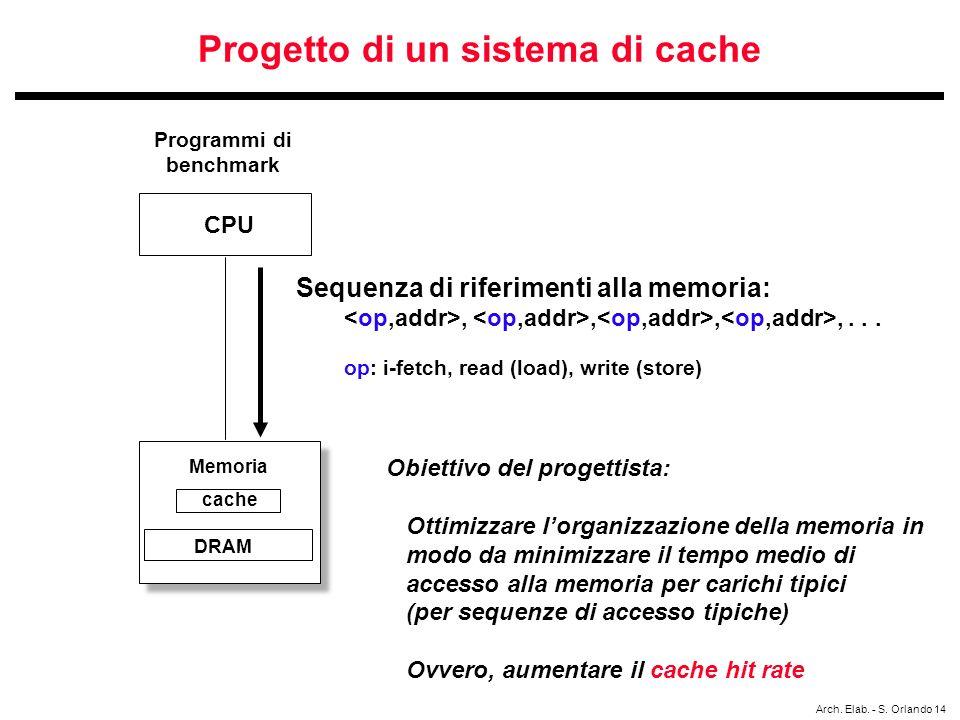 Progetto di un sistema di cache