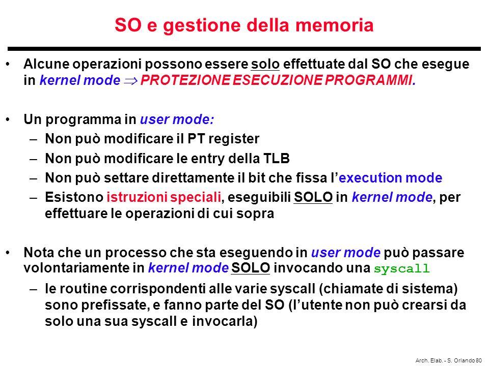SO e gestione della memoria