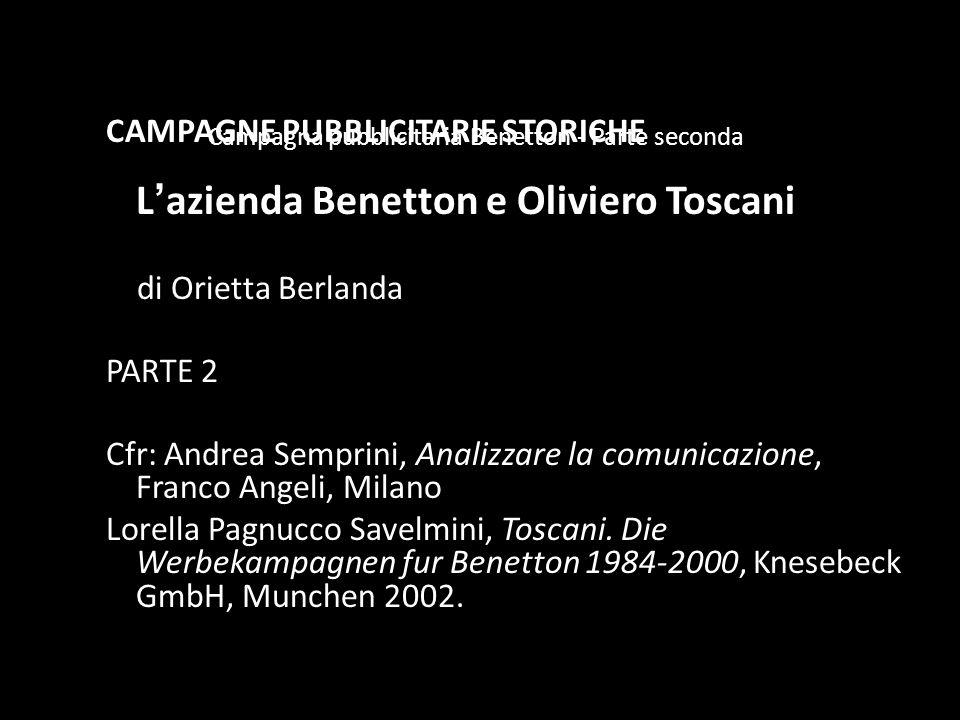 Campagna pubblicitaria Benetton - Parte seconda
