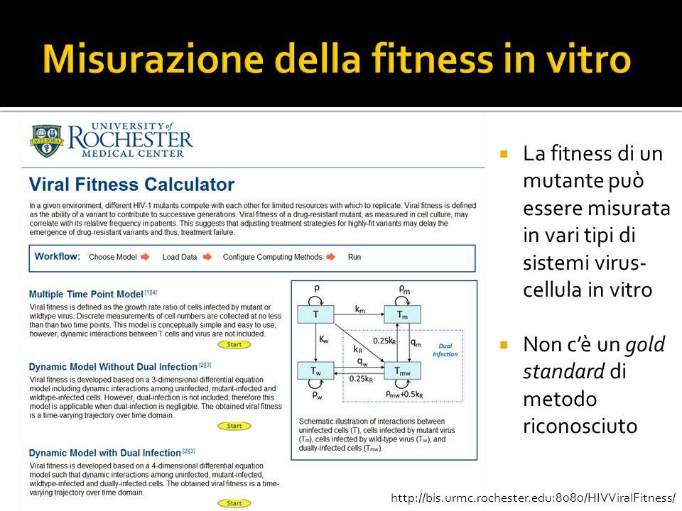 Misurazione della fitness in vitro