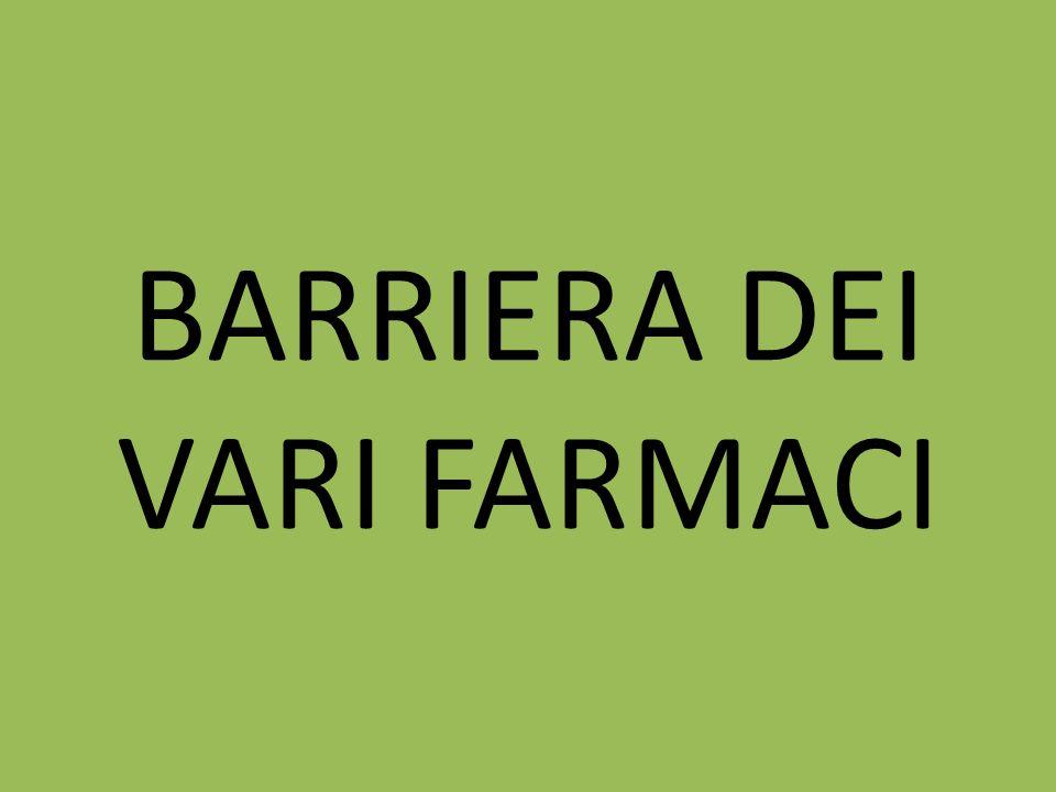 BARRIERA DEI VARI FARMACI