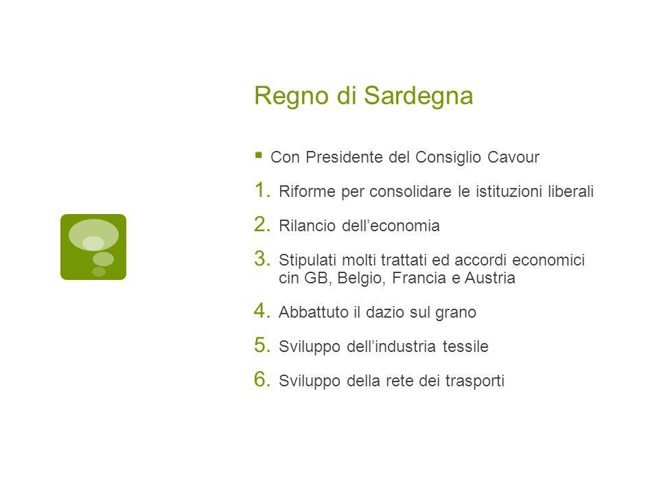Regno di Sardegna Con Presidente del Consiglio Cavour