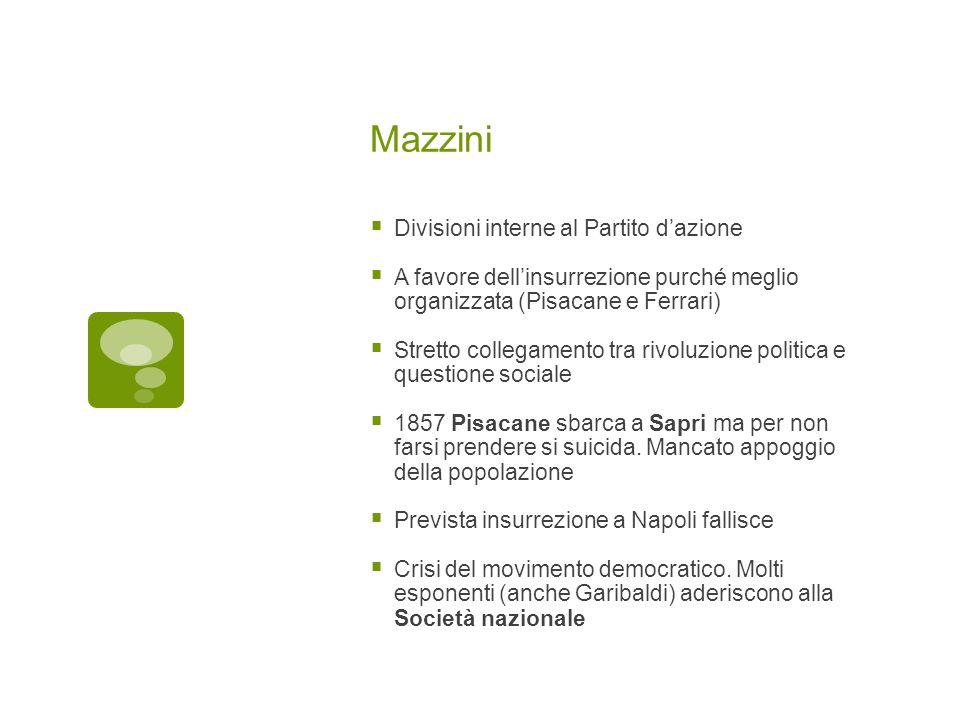 Mazzini Divisioni interne al Partito d'azione