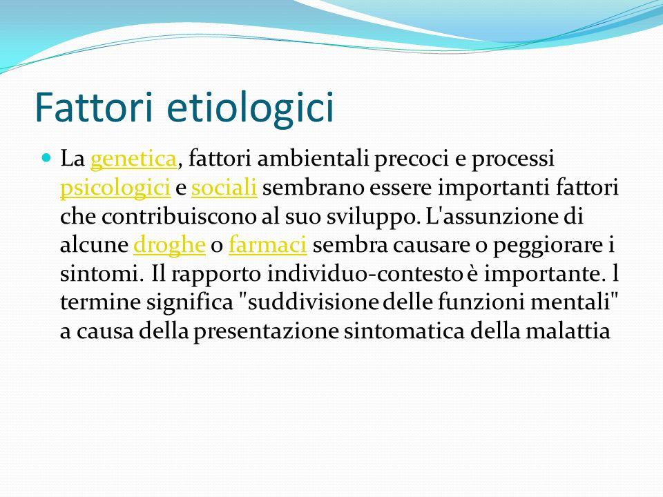 Fattori etiologici