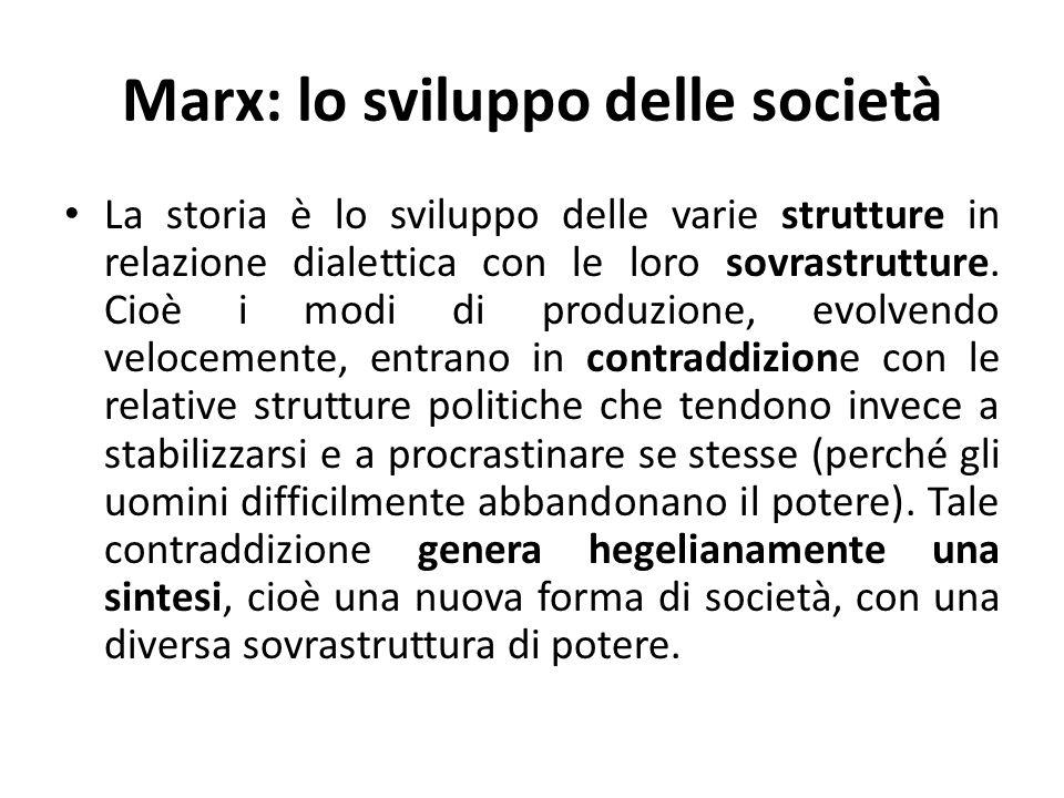 Marx: lo sviluppo delle società