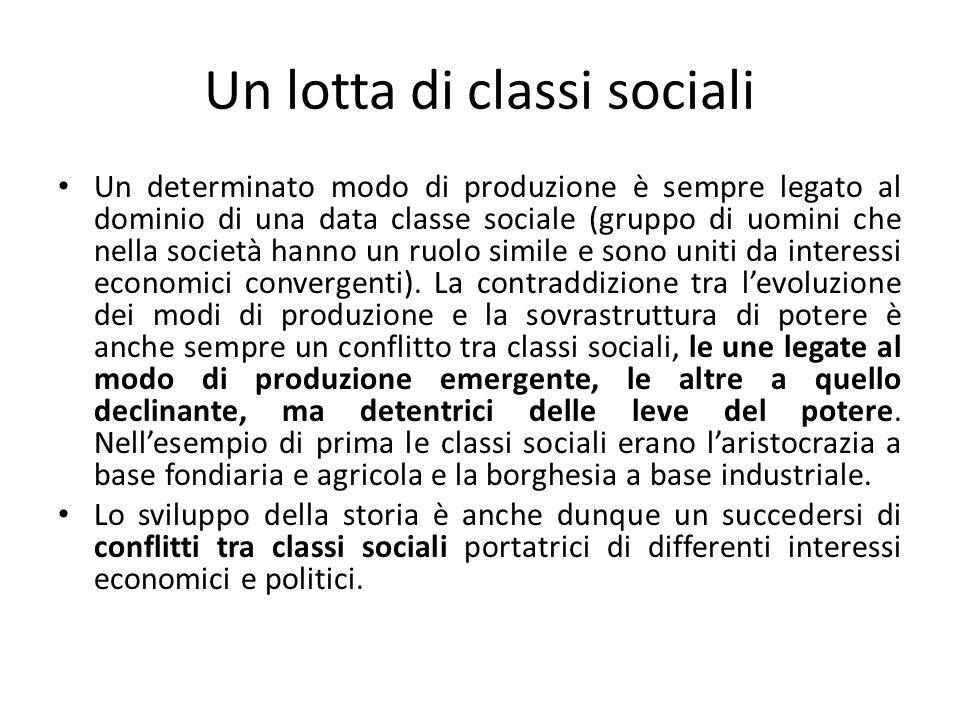 Un lotta di classi sociali
