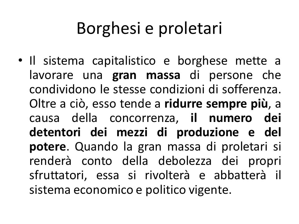 Borghesi e proletari