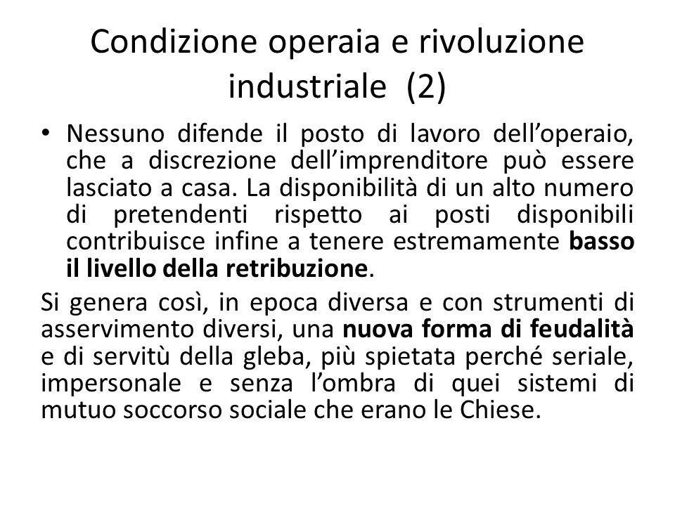 Condizione operaia e rivoluzione industriale (2)
