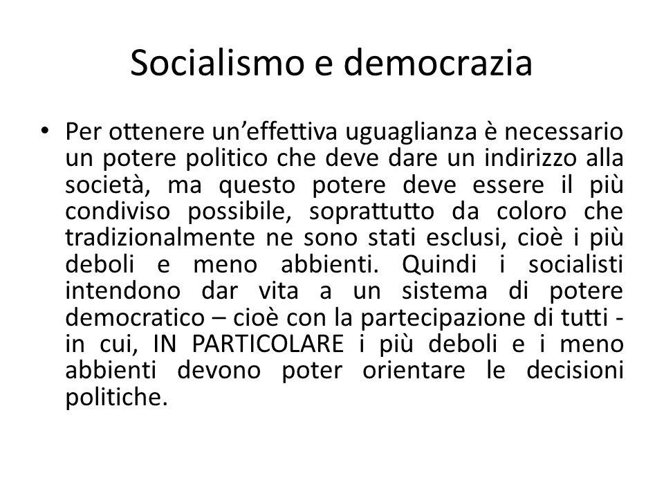 Socialismo e democrazia