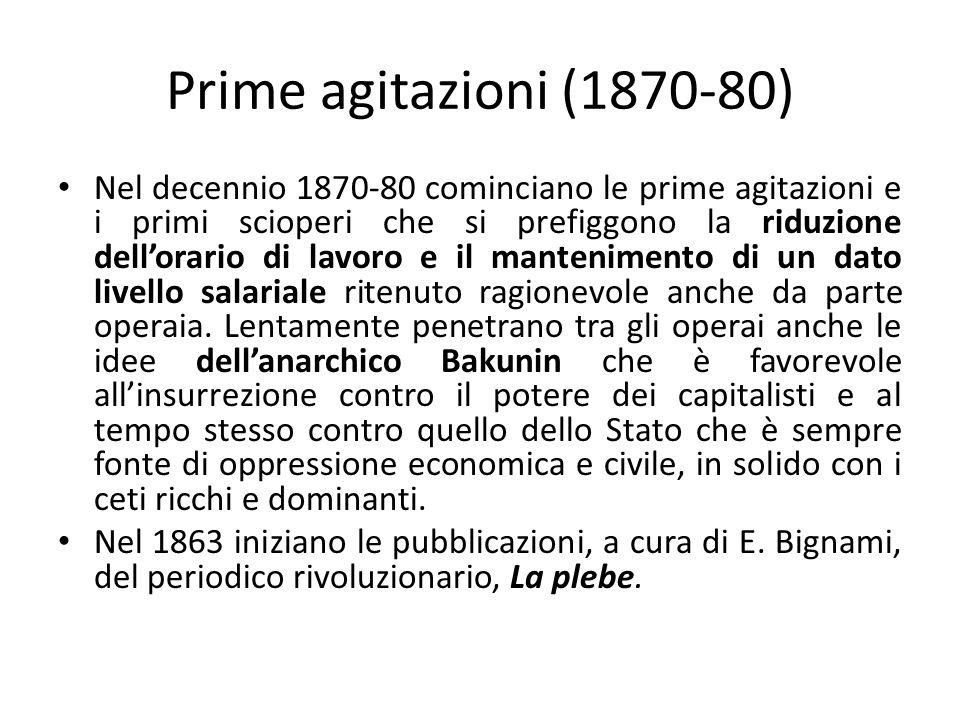 Prime agitazioni (1870-80)