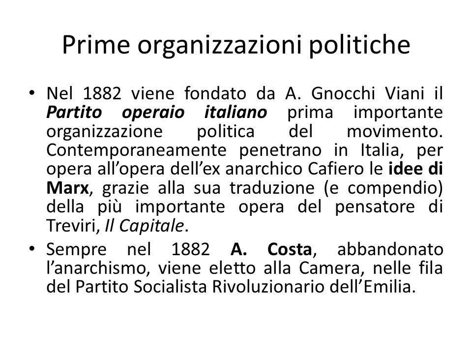 Prime organizzazioni politiche