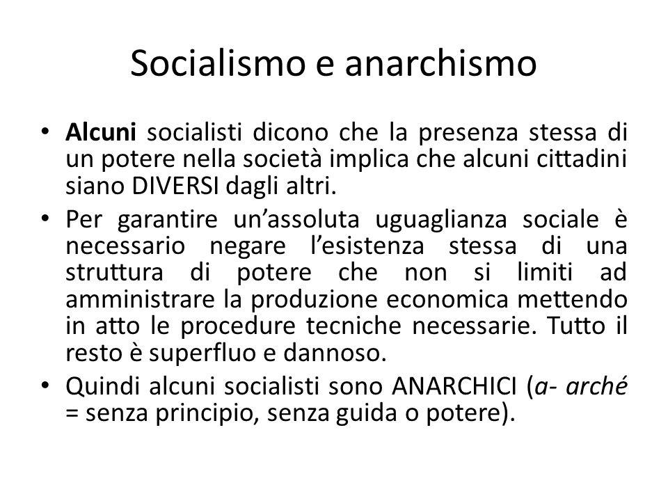 Socialismo e anarchismo