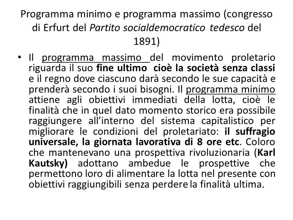 Programma minimo e programma massimo (congresso di Erfurt del Partito socialdemocratico tedesco del 1891)