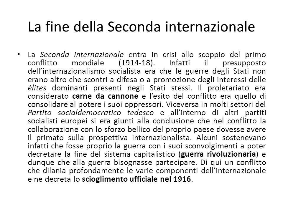 La fine della Seconda internazionale