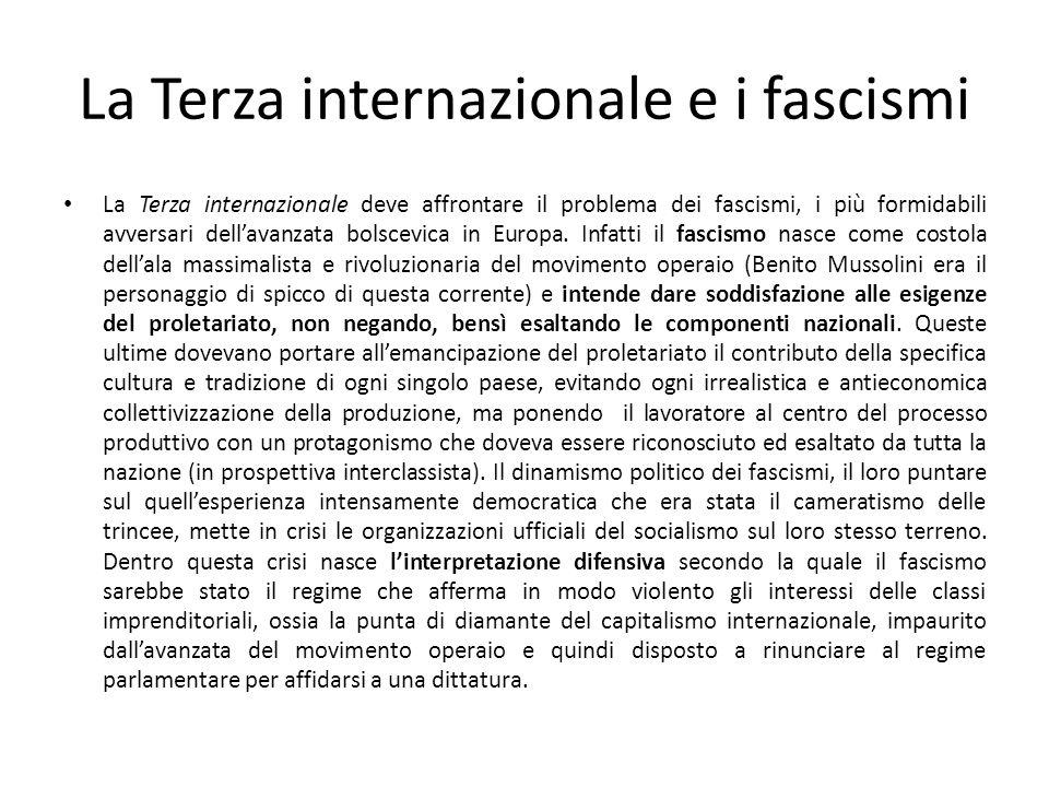 La Terza internazionale e i fascismi