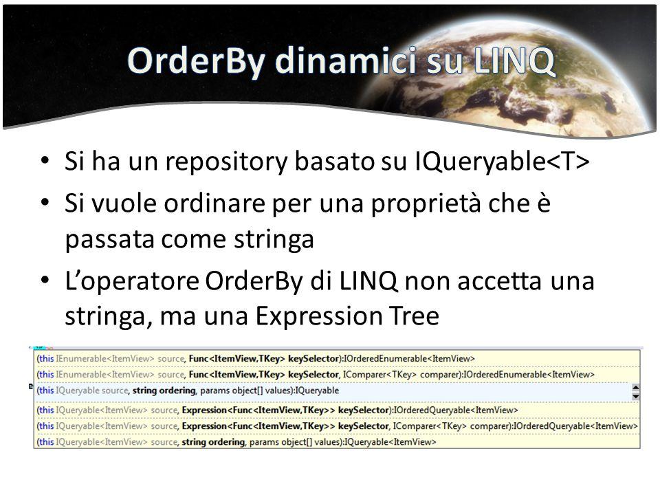 OrderBy dinamici su LINQ