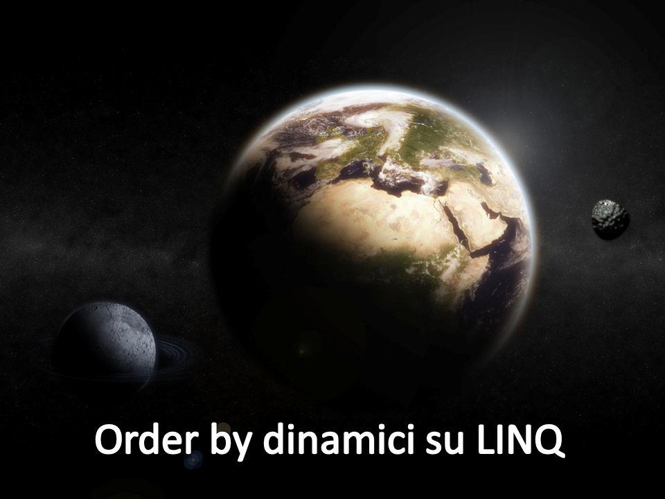 Order by dinamici su LINQ
