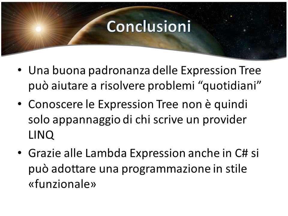Lambda expression Conclusioni