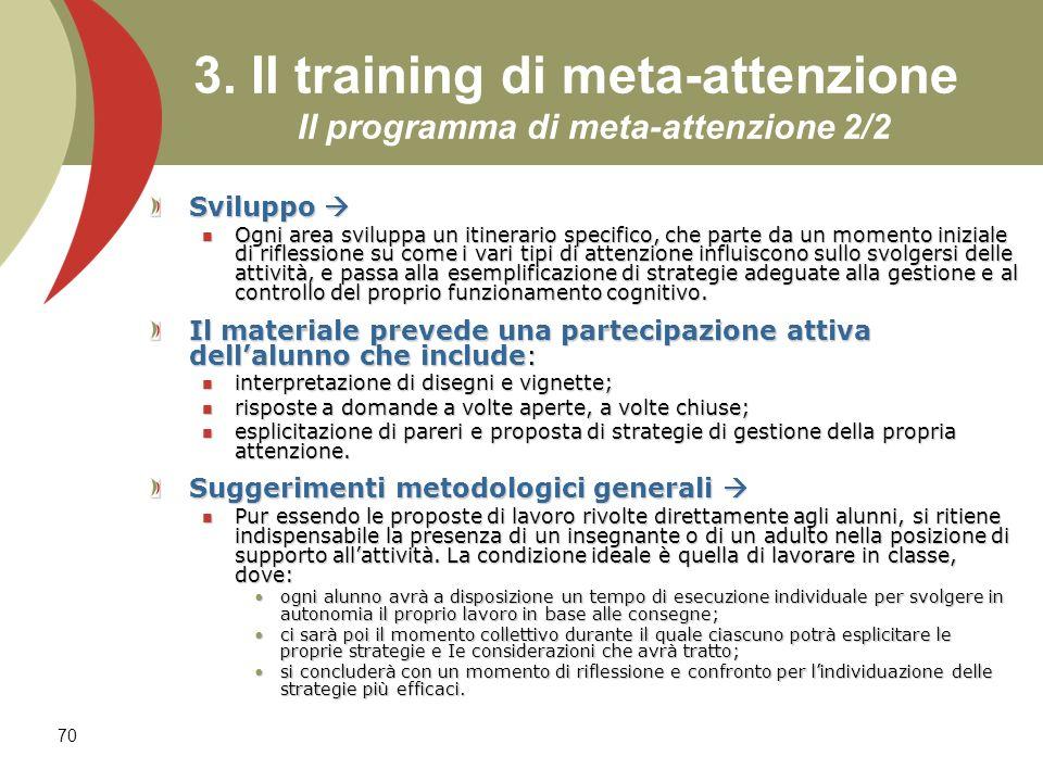 3. Il training di meta-attenzione Il programma di meta-attenzione 2/2