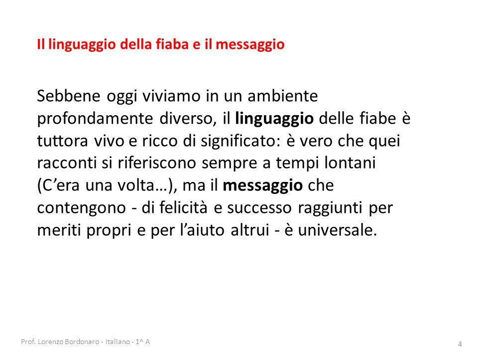 Prof. Lorenzo Bordonaro - Italiano - 1^ A