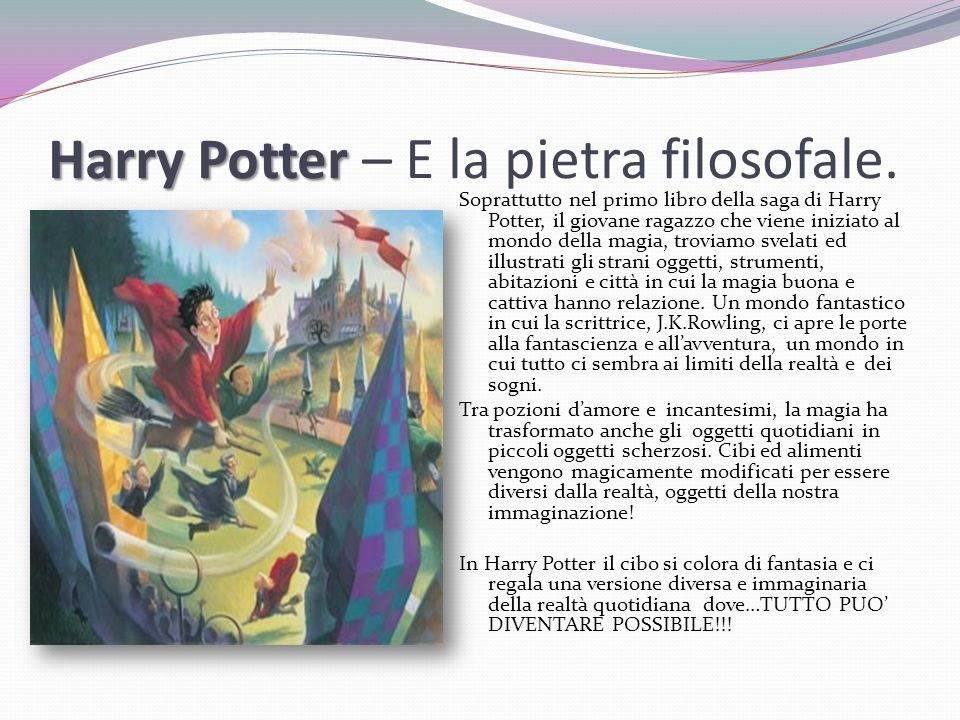 Harry Potter – E la pietra filosofale.