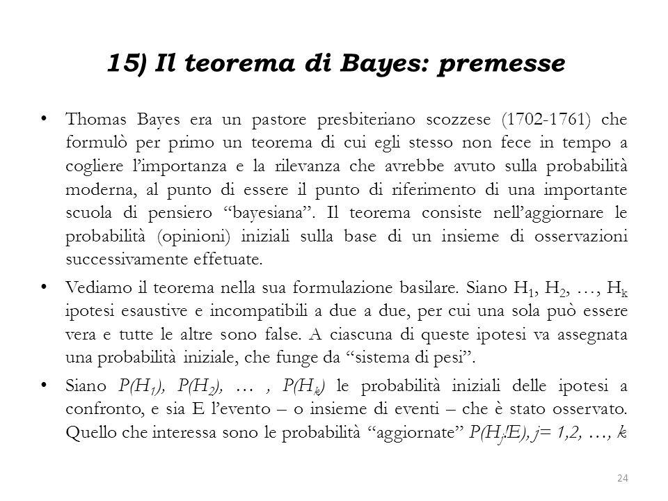 15) Il teorema di Bayes: premesse