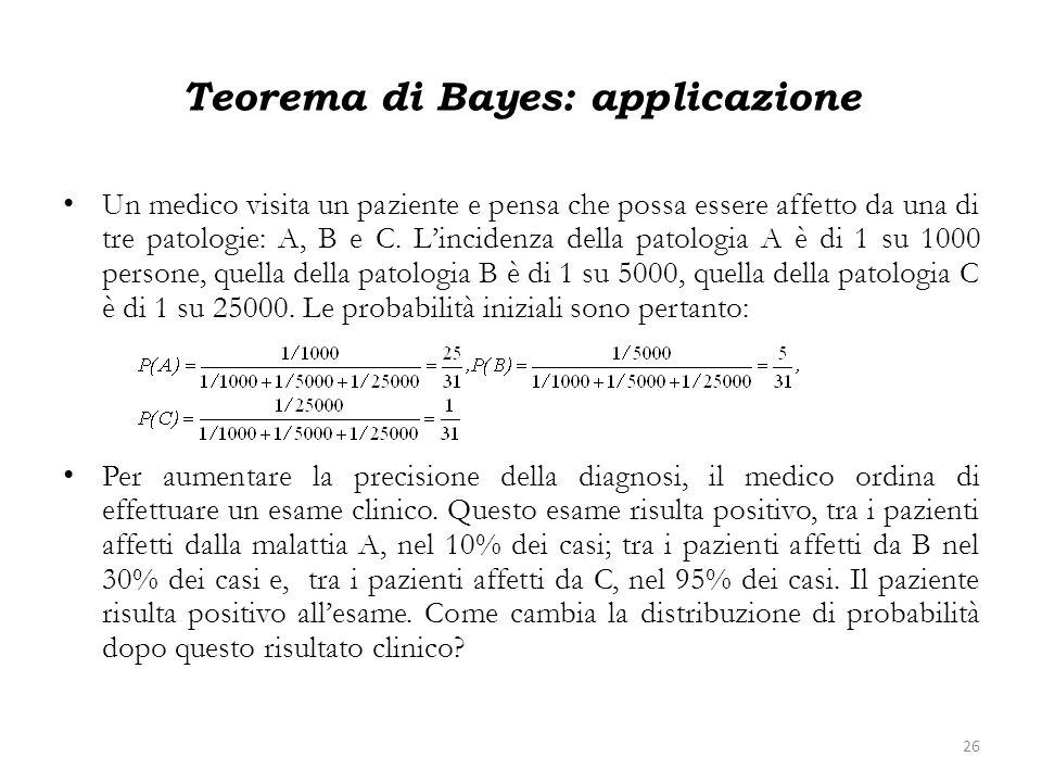 Teorema di Bayes: applicazione