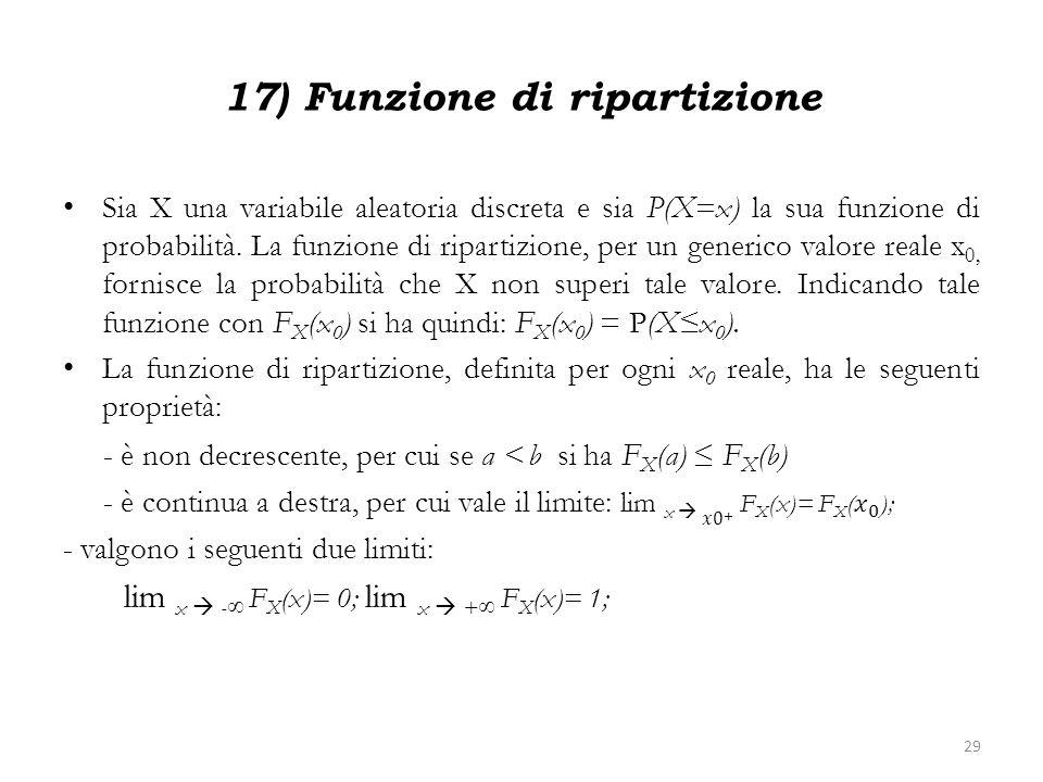 17) Funzione di ripartizione