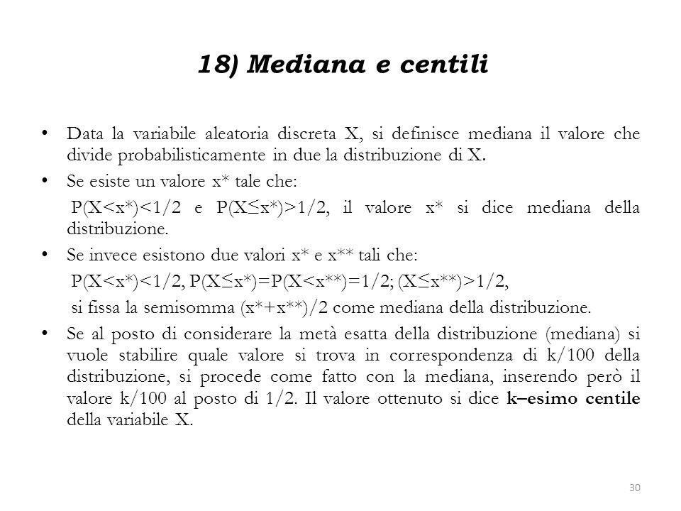 18) Mediana e centili