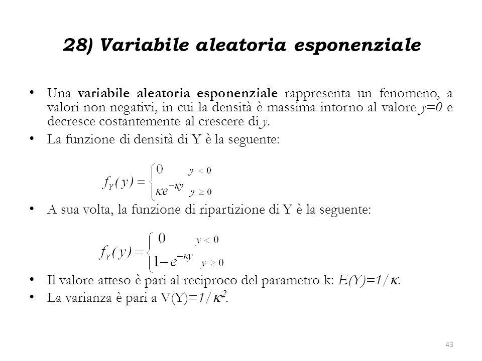 28) Variabile aleatoria esponenziale