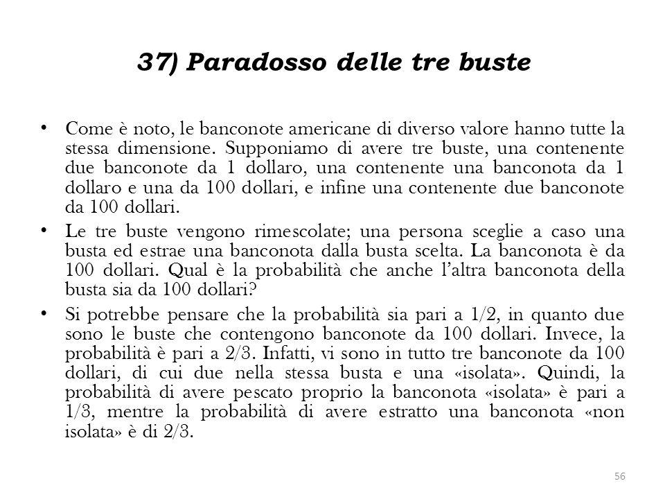 37) Paradosso delle tre buste