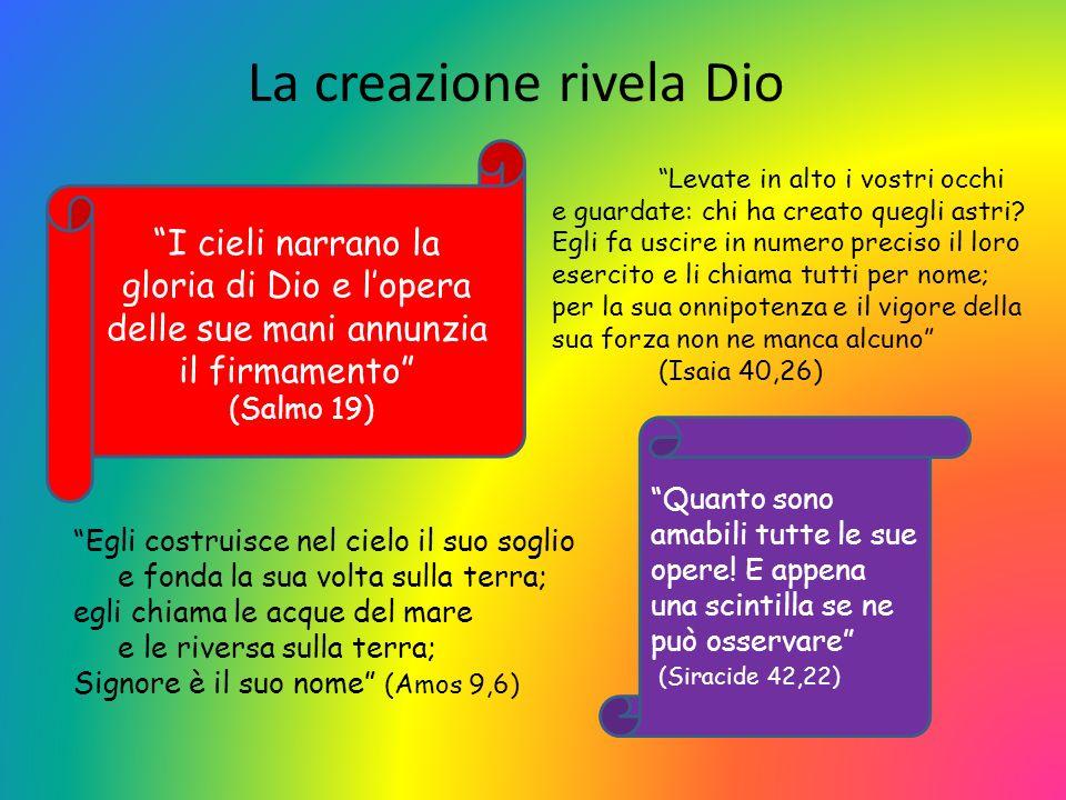 La creazione rivela Dio